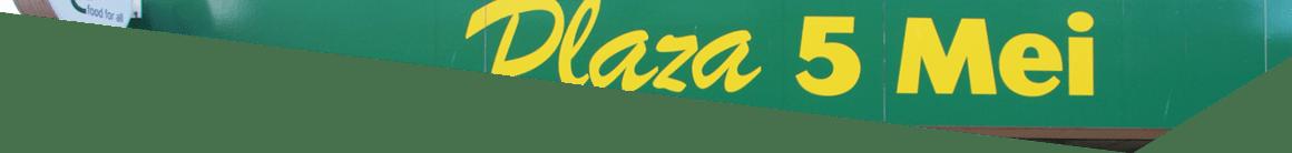 Gevel Plaza 5 mei op de Luifelbaan in Leiden