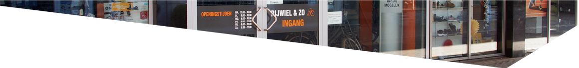 Gevel Rijwiel en zo op de Luifelbaan in Leiden
