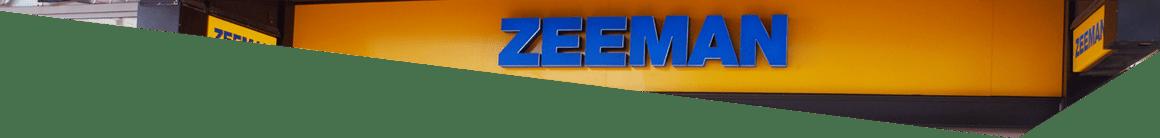 De gevel van Zeeman op de Luifelbaan in Leiden
